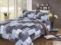 American King size Bed Customized Cheap quilt polyester Patchwork Quilt