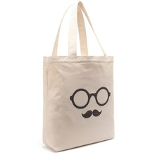 Eco Moustache Tote Bag Shopping Bags Organic Cotton Bags