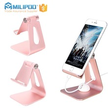Customized Aluminum Cell phone holder stand Multi-Angle Phone Stand for iPhone/iPad