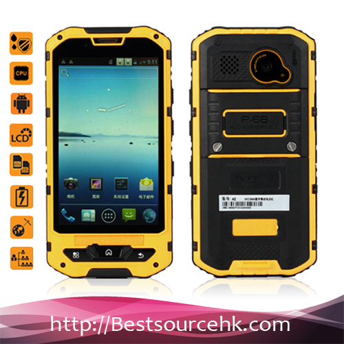 Rugged Android Land Rover A8 Android 4.2 IP68 Waterproof Dual SIm Mobile Phone Low Price