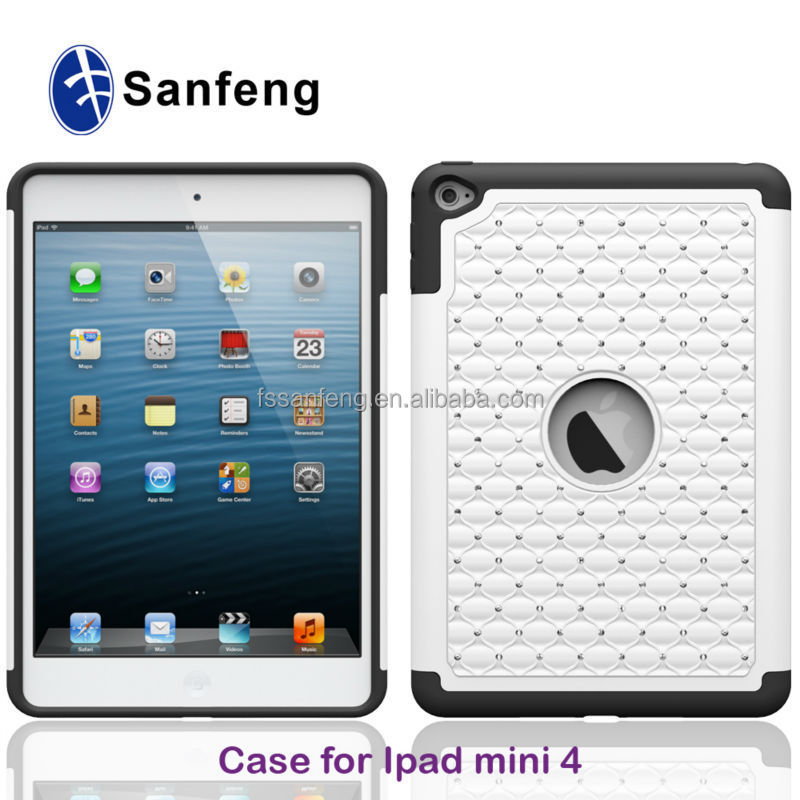 Shock Proof High Impact Bling Bling Rhinestone Covers Cases For Mini IPad 4