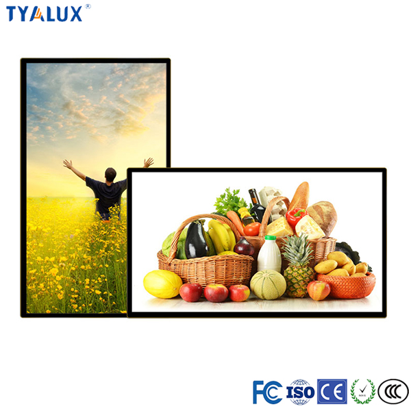 TYALUX 55 inch full color touch panel full/split screen advertising display large