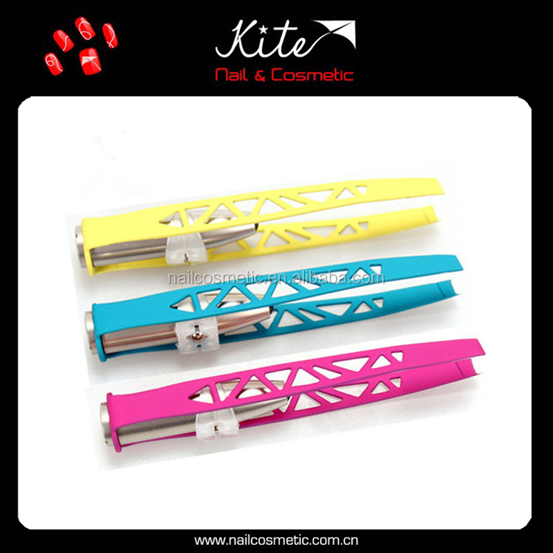 Good quality custom colors and printing eyebrow tweezer with led light eyebrow shaping tools
