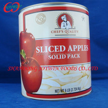 Big Promotion, discount sales A10 solid pack apple , canned apples sliced in syrup