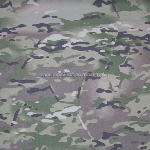 1000D Cordura camouflage pattern polyester fabric pu coating