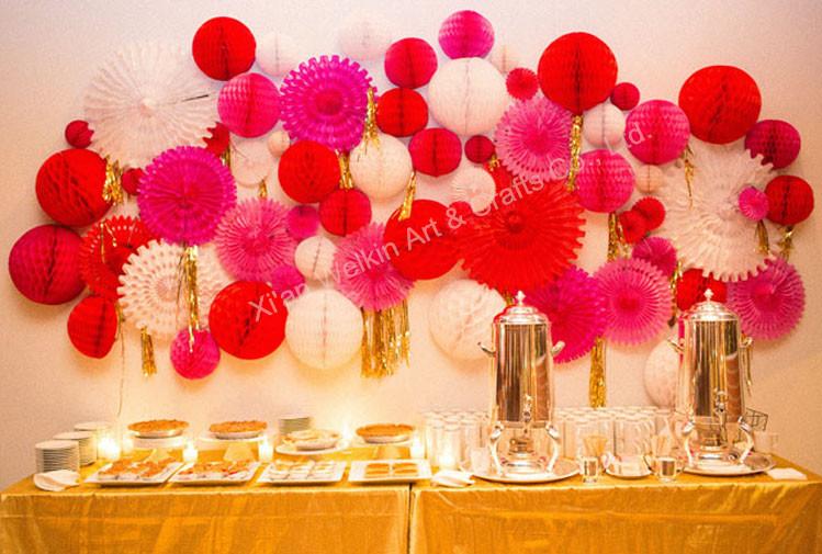 tissue flower ball cheap paper pom poms for event u0026