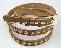 LADY WHOLESALE CONCHO BELT PYRAMID BELT FOR WOMAN DESIGNER BELTS