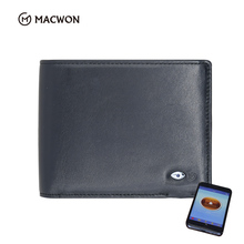 Genuine Leather Bluetooth Anti-theft Alarm Smart Phone <strong>Wallet</strong> For Men