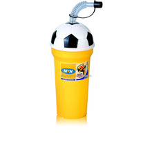 Plastic Soccer Cup with lid & straw