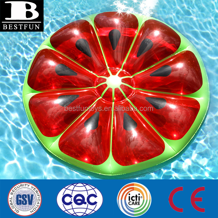 Deluxe sized round float Giant Inflatable Pool lake Float Fruit Slice Watermelon Air Toy beach mattress Tanning lounge bed