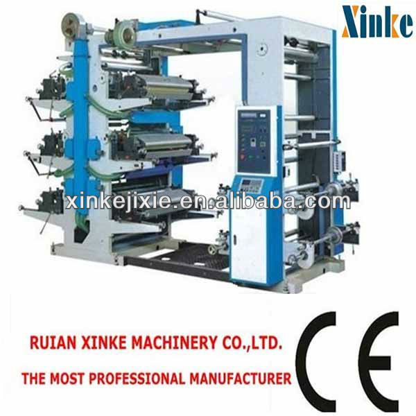 XK Series Factory Supplier Non Woven Fabric Six Color Flexo Printing Machine