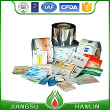 Printed aluminium laminating plastic film roll