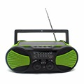 Crank dynamo am fm noaa weather radio with flashlight