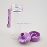 460ml bpa free water bottle with strap clear drinking bottle