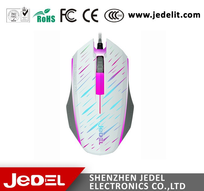 mouse manufacturer Jedel wired mouse rainbow optical mouse