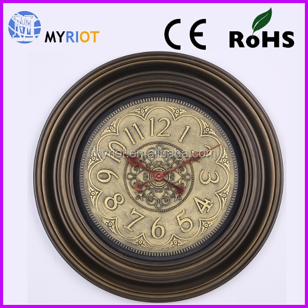 Antique wall clock western style decorative wall clock