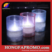 Newest 2015 Hot Products Soft Rubber Led Candle with Shinning Powder