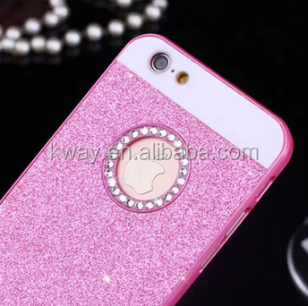Luxury Diamonds Don't fall shimmering powder case for iphone 4 4s 5 5s SE 6 & 6 plus 6s & 6s plus