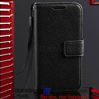 For Samsung Galaxy S4 Mini I9190 Leather Case With Card Holder Stand Design