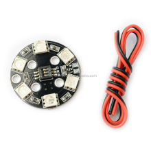 High-quality 7 Color RGB RGB5050 LED Round Circle Board 5050 X8/16V X6/12V for FPV RC Multicopter F17710 ZMR UAV