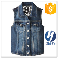 hot sell outerwear denim jean vest women