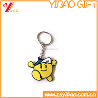 Customed 2D/3D cartoon soft pvc keychain /key ring for promotion item
