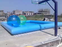 big rectangular inflatable pool for child and adult