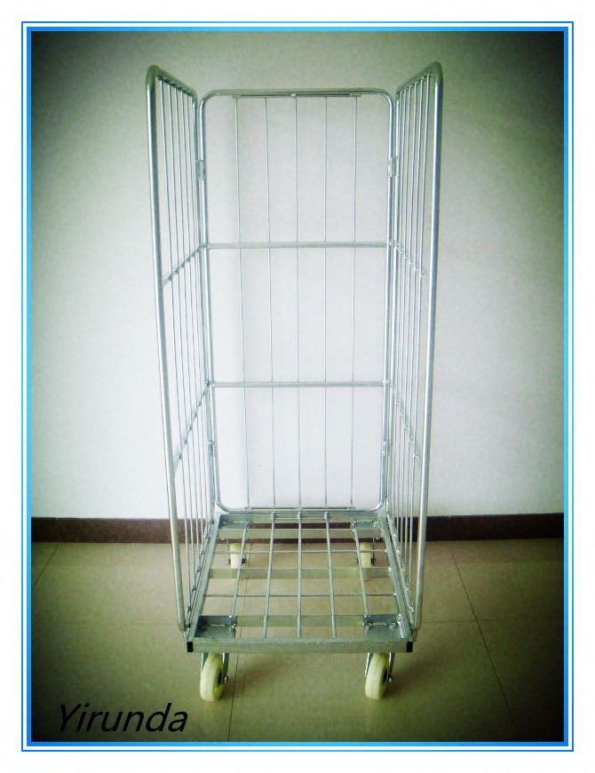 Heavy-duty logistic roll container trolley wih layers