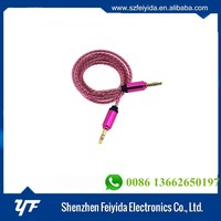 Custom aux cable colorful 3.5mm stereo jack aux cable