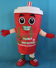 HI CE Hot sale plush material adult coffee cup costume coffee cup mascot costume