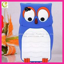 2013 3D best promotional protector case owl shape soft silicon cover for iphone 5,for iphone 5 protective case cover