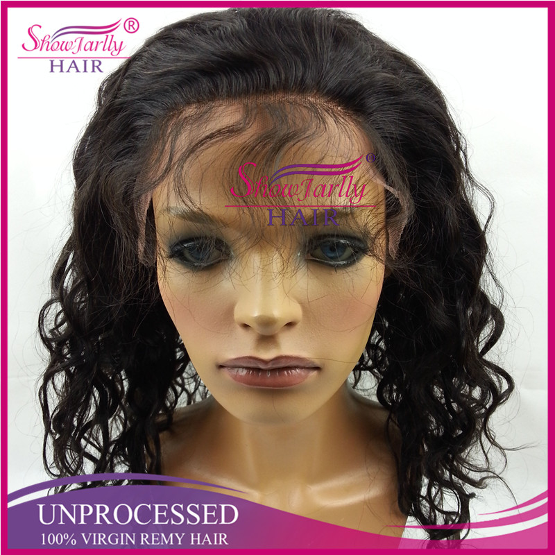 Full hand tied free lace wig body wave silk top kosher wigs european hair lace front with baby hair braided full lace wig