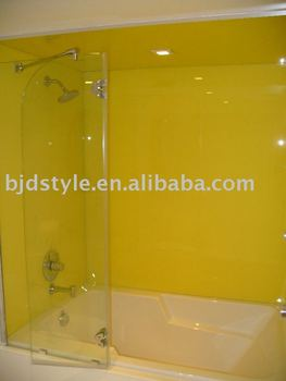 showerscreen tempered glass splashback for bathroom