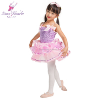 Best selling Lilac sequin spandex bodice girl performance stage ballet tutu