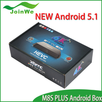 Best Selling android 5.1 Tv Box M8S Plus 10/100/1000M Ethernet, add 1000M Better than M8 M8S M8C google android 5.1smart tv box