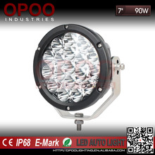 "Top Hot 6500K IP68 7"" Round Truck ATV 90W Led Spot Driving Light"