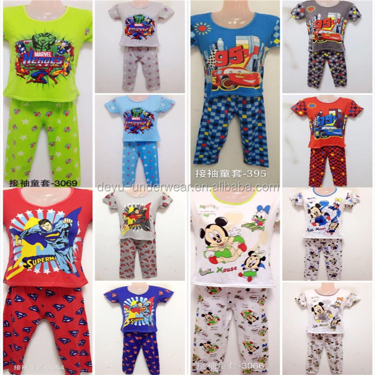 1.25 Dollar GDZW615 Stock Boys And Gilrs Set 3-8Years Cartoon sexy nighty for honeymoon, sexy nighty, nighty sexy