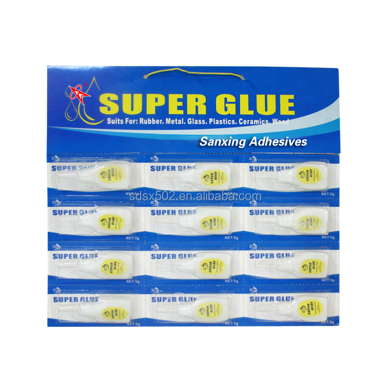 Quick bond Cyanoacrylate Adhesive Plastic Bottle Super Glue in Blister card 502 glue