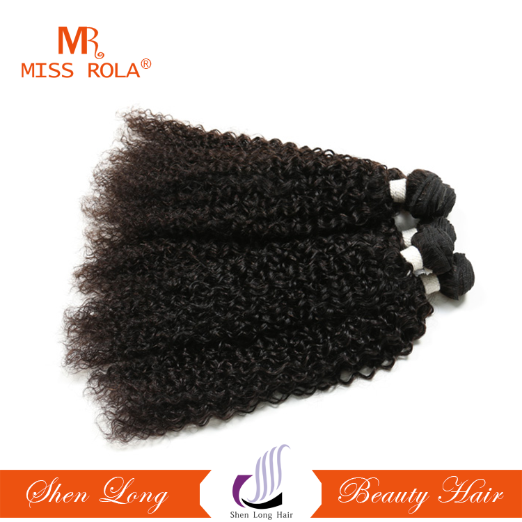 Afro Popular Kinky Curly Wholesale 100% Remy Human Hair Extensions Strong Double Machine Weft