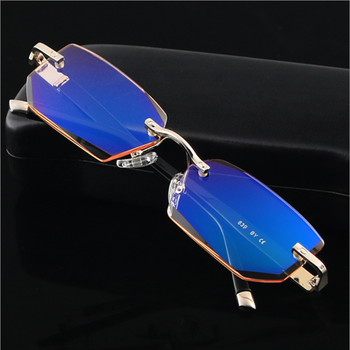 Rimless classic luxury style glass lenses Reading Glasses Plain mirror Men women Unisex Eyewear 0 1.0 1.5 2.0 2.5 3.0 3.5 4.0