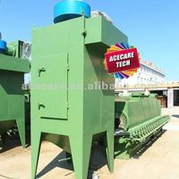 Roller-type shot blasting machine for cylinde external surface