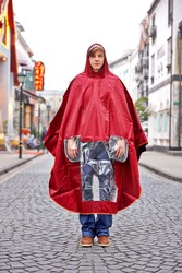 Bicycle poncho fashionable rain poncho cheap poncho for adults