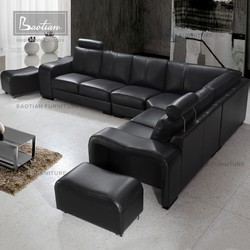 Home design leather sofa for furniture living room big seating capacity sofa
