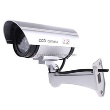 CCTV Security Fake/Dummy Camera Outdoor Bullet Camera with 1 Flashing Light