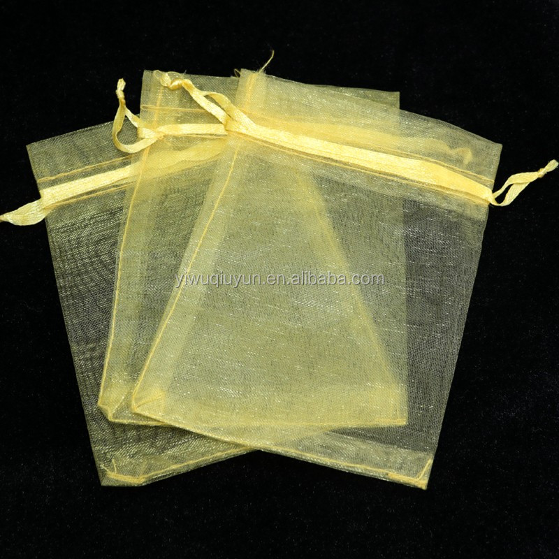 Wholesale Wedding Gift Candy Bags Jewelry Package Pouch Large Gold Organza Bag