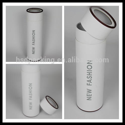 Red Wine packaging boxes white paper tube, artpaper tube packaging