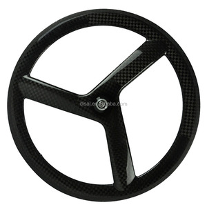 700c 3 spoke wheel carbon fiber T800 carbon tri-spoke wheels 12k glossy wheel 12k glossy/matte cheap selling!