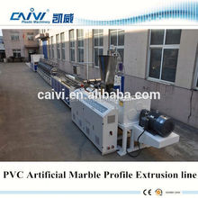 PVC man-made Marble profile making machinery/PVC Stone plastic profile extrsion line