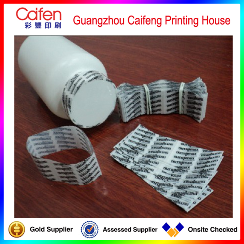 Custom printing plastic bottle cap PVC Heat shrink label,packaging label