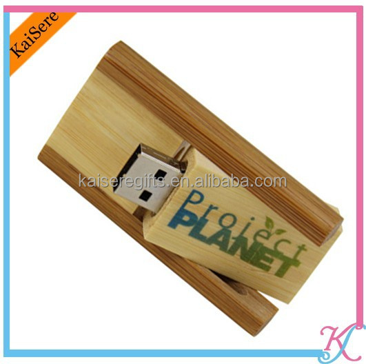 Promotional swivel wood usb gifts with logo printed/Customized wood usb